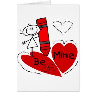 La fille de bâton soit à moi Valentine Cartes