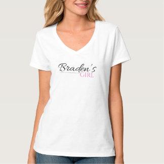 La fille de Braden V - T-shirt de cou dans le noir