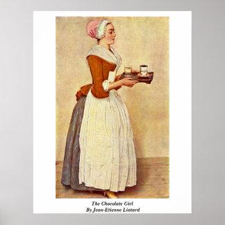 La fille de chocolat par Jean-Etienne Liotard Affiche