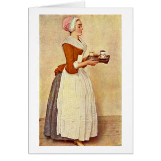 La fille de chocolat par Jean-Etienne Liotard Carte De Vœux