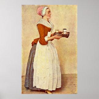 La fille de chocolat par Jean-Etienne Liotard Poster