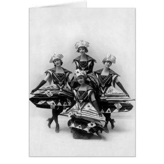 La fille de siècle - musical 1916 de Ziegfeld Carte De Vœux