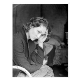 La fille du mineur - 1936 carte postale