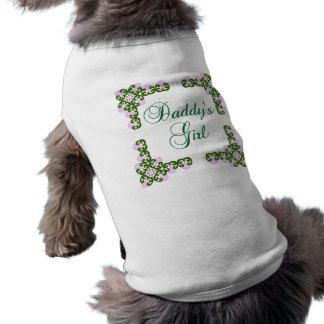 La fille du papa t-shirt pour chien