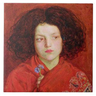 La fille irlandaise, 1860 (huile sur la toile étab carreaux