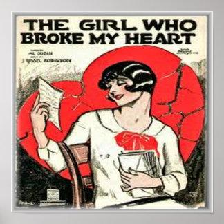 La fille qui a brisé mon coeur affiches