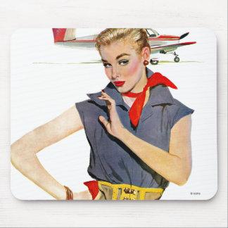 La fille qui a volé des avions tapis de souris