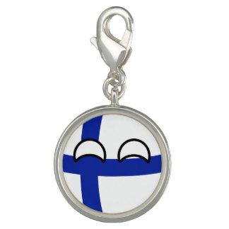 La Finlande Countryball Breloque Avec Photo