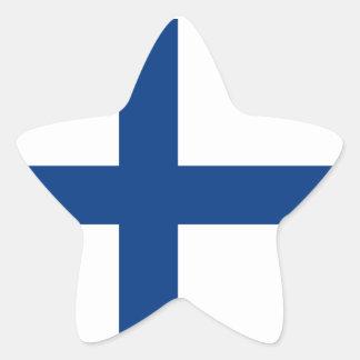 La Finlande/drapeau (civil) finlandais/Finn Sticker Étoile
