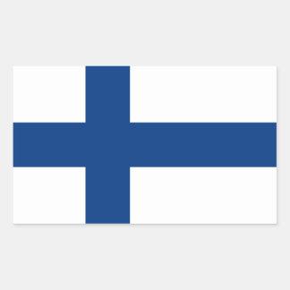 La Finlande/drapeau (civil) finlandais/Finn Sticker Rectangulaire