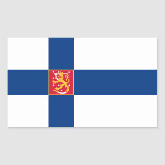 La Finlande/drapeau finlandais/Finn Sticker Rectangulaire