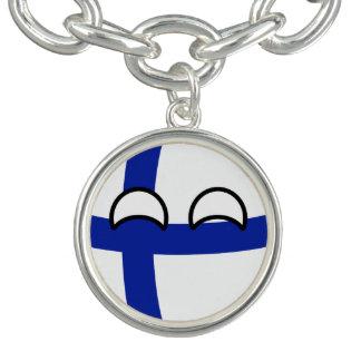 La Finlande Geeky tendante drôle Countryball Bracelet