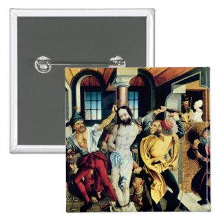 La flagellation du Christ Badge Carré 5 Cm