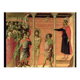 La flagellation, du retable de Maesta Carte Postale