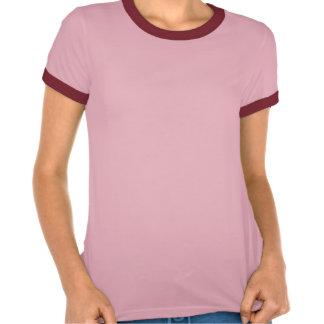 La flamme ! la rétro chemise des dames de sonnerie t-shirt