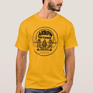La flèche décrit le T-shirt occidental NY de film