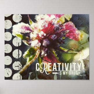 La fleur congelée, créativité est ma drogue affiches