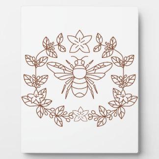 La fleur de café de bourdon part de l'icône plaque photo