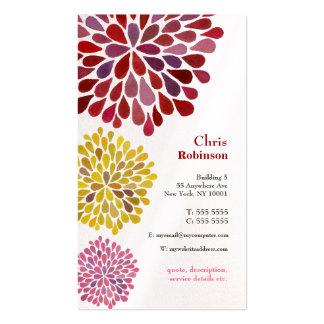 La fleur de dahlia de perle a éclaté le carte de v modèle de carte de visite