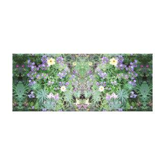 La fleur de la photo 772 tachettent le panneau de toiles