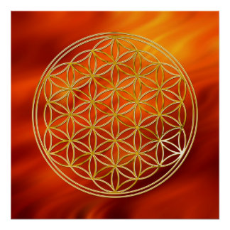 La fleur de l'or de la vie |, mettent le feu au ro affiche