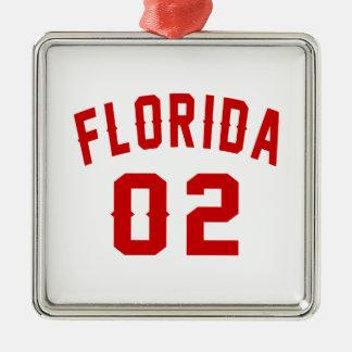 La Floride 02 conceptions d'anniversaire Ornement Carré Argenté