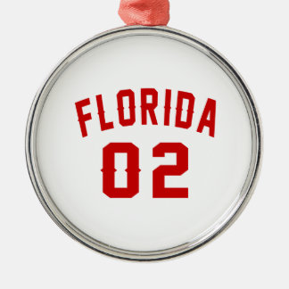 La Floride 02 conceptions d'anniversaire Ornement Rond Argenté