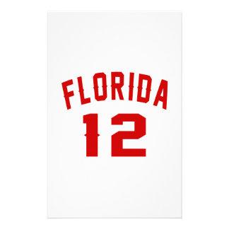 La Floride 12 conceptions d'anniversaire Papier À Lettre