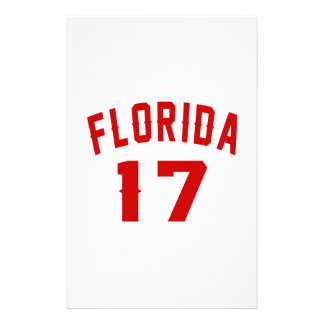 La Floride 17 conceptions d'anniversaire Papier À Lettre Customisable