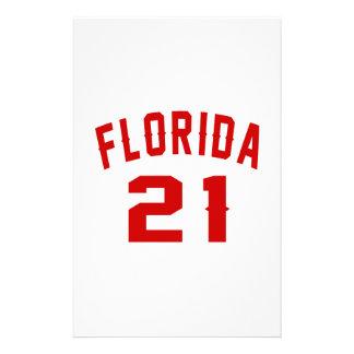 La Floride 21 conceptions d'anniversaire Papier À Lettre Personnalisable