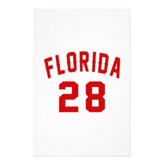 La Floride 28 conceptions d'anniversaire Motifs Pour Papier À Lettre