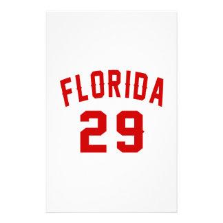 La Floride 29 conceptions d'anniversaire Papier À Lettre Personnalisé