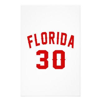 La Floride 30 conceptions d'anniversaire Papier À Lettre Personnalisé
