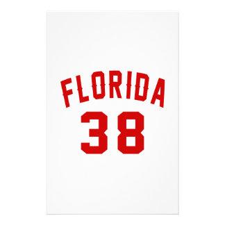 La Floride 39 conceptions d'anniversaire Papier À Lettre Customisable