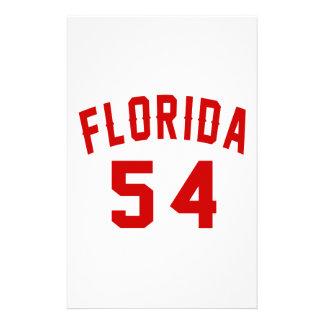 La Floride 54 conceptions d'anniversaire Papier À Lettre Personnalisable