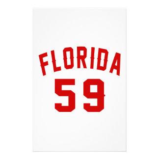 La Floride 59 conceptions d'anniversaire Papier À Lettre