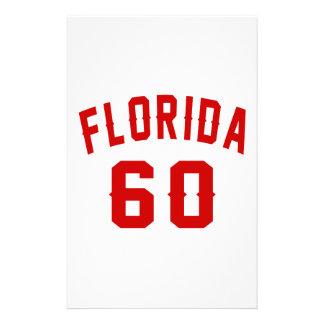 La Floride 60 conceptions d'anniversaire Papier À Lettre Customisé