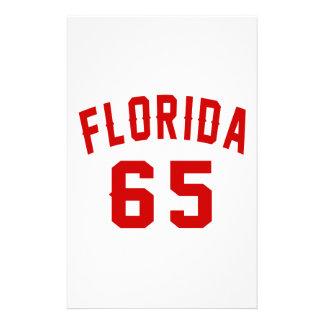 La Floride 65 conceptions d'anniversaire Papiers À Lettres