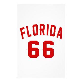La Floride 66 conceptions d'anniversaire Papier À Lettre Personnalisé