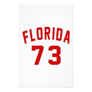 La Floride 73 conceptions d'anniversaire Papier À Lettre Personnalisé
