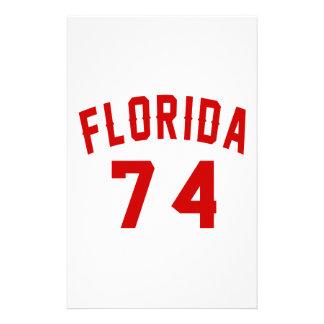 La Floride 74 conceptions d'anniversaire Papier À Lettre Personnalisé