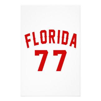 La Floride 77 conceptions d'anniversaire Papier À Lettre Customisé