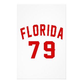 La Floride 79 conceptions d'anniversaire Papier À Lettre Customisé