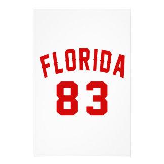 La Floride 83 conceptions d'anniversaire Papier À Lettre Customisable