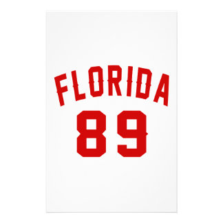 La Floride 89 conceptions d'anniversaire Papier À Lettre Personnalisé