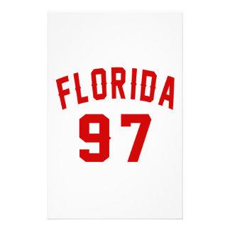 La Floride 97 conceptions d'anniversaire Papier À Lettre Personnalisable