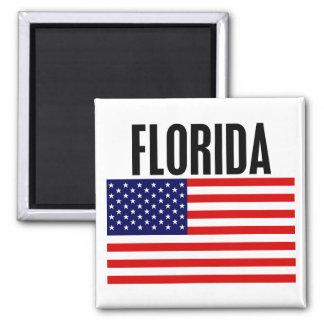 La Floride, bannière étoilée Magnet Carré