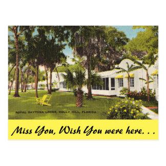 La Floride, colline de houx, loge royale de Carte Postale