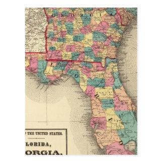 La Floride, la Géorgie, et la Caroline du Sud 2 Carte Postale