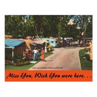 La Floride, terrain de caravaning Carte Postale